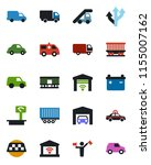 color and black flat icon set   ...   Shutterstock .eps vector #1155007162