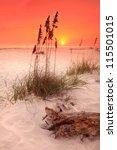Orange Sunset On White Sand...