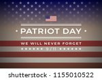 patriot day september 11  2001... | Shutterstock .eps vector #1155010522