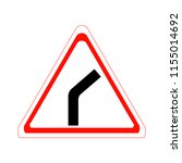 bend to right. vector... | Shutterstock .eps vector #1155014692
