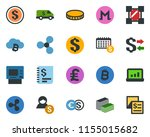 colored vector icon set  ...   Shutterstock .eps vector #1155015682