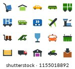 colored vector icon set  ... | Shutterstock .eps vector #1155018892