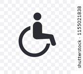 wheelchair vector icon isolated ... | Shutterstock .eps vector #1155021838