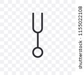 tuning fork vector icon... | Shutterstock .eps vector #1155022108
