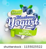 fresh and natural blueberry... | Shutterstock .eps vector #1155025522