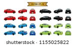 set cars red black blue and...   Shutterstock .eps vector #1155025822