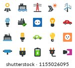 colored vector icon set   power ... | Shutterstock .eps vector #1155026095