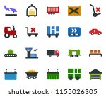colored vector icon set  ... | Shutterstock .eps vector #1155026305