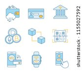 e payment color icons set.... | Shutterstock .eps vector #1155027592
