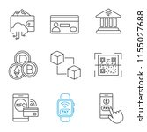 e payment linear icons set....   Shutterstock .eps vector #1155027688