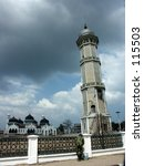 Small photo of Baiturrahman Mosque (the Acehnese landmark) after Tsunami in Aceh Indonesia