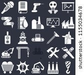 set of 25 icons such as crane ... | Shutterstock .eps vector #1155034678