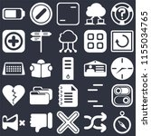 set of 25 icons such as compass ...