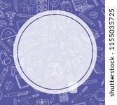 back to school sale flyer card. ... | Shutterstock . vector #1155035725