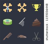 set of 9 simple icons such as... | Shutterstock .eps vector #1155036448