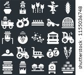 set of 25 icons such as hay...