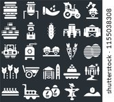set of 25 icons such as sprout  ...
