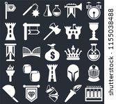 set of 25 icons such as alchemy ...