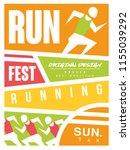 run fest colorful poster ...   Shutterstock .eps vector #1155039292
