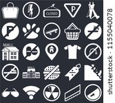 set of 25 icons such as slope ...