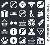 set of 25 icons such as mall ...