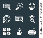 set of 9 simple icons such as... | Shutterstock .eps vector #1155040648