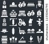 set of 25 icons such as carrots ...