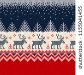 ugly sweater merry christmas... | Shutterstock .eps vector #1155041455