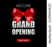 grand opening banner with bow | Shutterstock .eps vector #1155044515