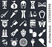 set of 25 icons such as hat ...