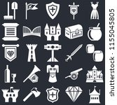 set of 25 icons such as tent ...