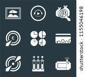 set of 9 simple icons such as... | Shutterstock .eps vector #1155046198