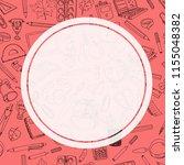 back to school sale flyer card. ... | Shutterstock . vector #1155048382