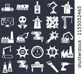 set of 25 icons such as drill ...