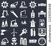 set of 25 icons such as gauge ...