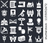 set of 25 icons such as crown ...