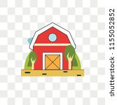 barn vector icon isolated on... | Shutterstock .eps vector #1155052852