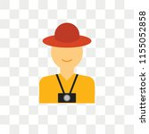 tourist vector icon isolated on ... | Shutterstock .eps vector #1155052858