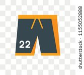 shorts vector icon isolated on... | Shutterstock .eps vector #1155052888