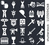 set of 25 icons such as axe ...