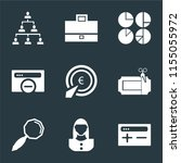 set of 9 simple icons such as... | Shutterstock .eps vector #1155055972