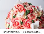 flower decorated butter icing... | Shutterstock . vector #1155063358
