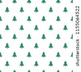 endless christmas pattern with... | Shutterstock .eps vector #1155064522