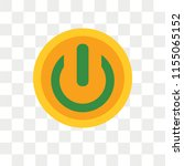 turn off vector icon isolated... | Shutterstock .eps vector #1155065152