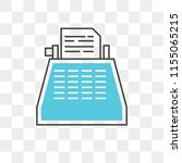 typewriter vector icon isolated ... | Shutterstock .eps vector #1155065215