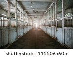inside old wooden stable or... | Shutterstock . vector #1155065605