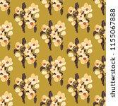 seamless vector ornamental... | Shutterstock .eps vector #1155067888