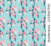 seamless vector ornamental... | Shutterstock .eps vector #1155067945