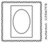 round  rectangular and square... | Shutterstock .eps vector #1155067978