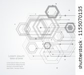technology hexagon style... | Shutterstock .eps vector #1155070135